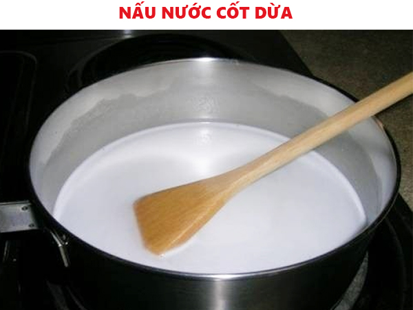 Nấu nước cốt dừa