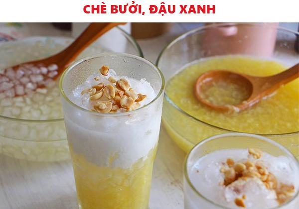 Cách nấu chè bưởi đậu xanh nước cốt dừa