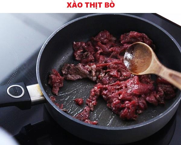 Xào chín thịt bò