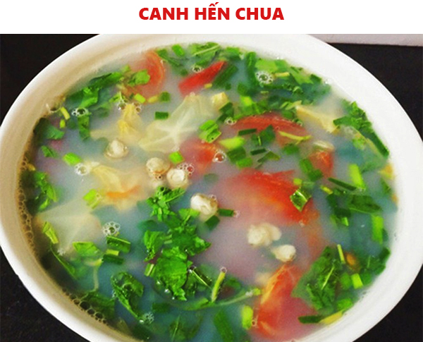 Cách nấu canh hến chua