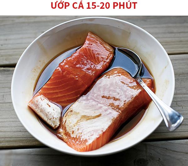 Ứơp cá hồi 15-20 phút