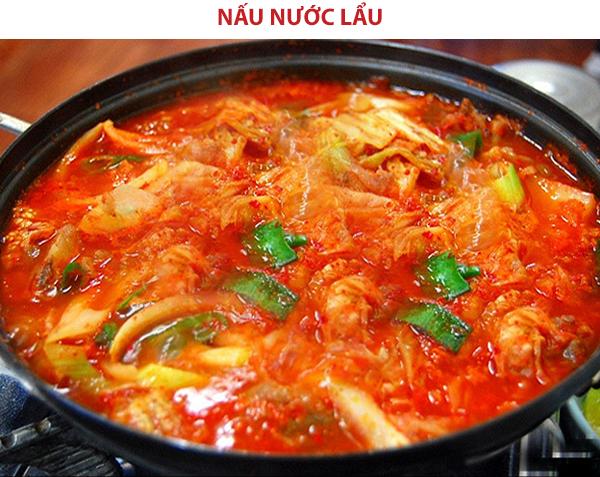 Cách nấu nước lẩu kim chi Hàn Quốc