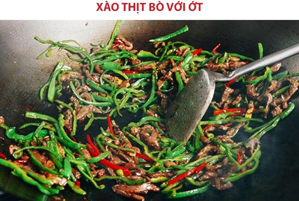 Cách làm thịt bò xào sả ớt