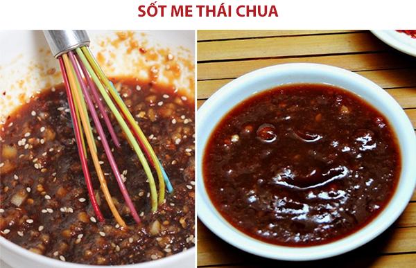 Cách làm nước chấm sốt me thái chua