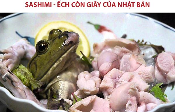 Sashimi ếch của Nhật Bản