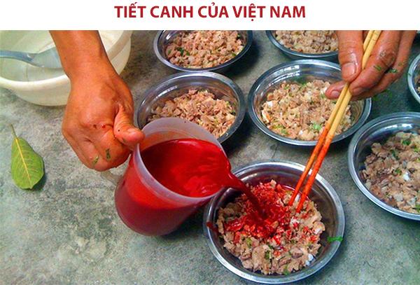 Tiết canh của Việt Nam