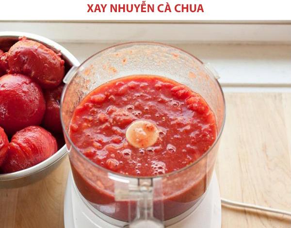 Xay nhuyễn cà chua