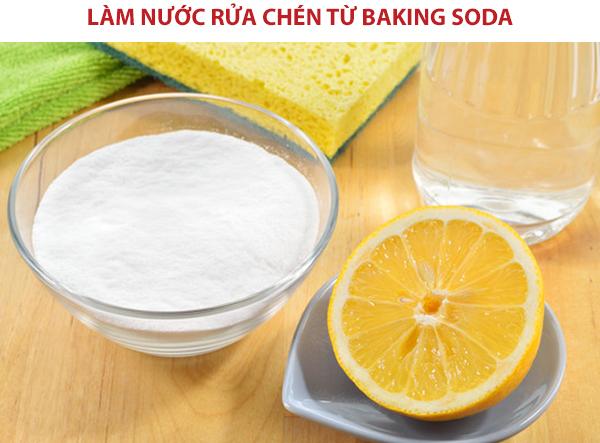 Tự làm nước rửa chén từ Baking Soda