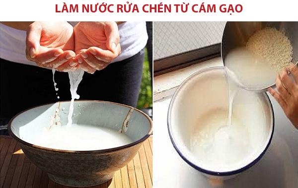 Cách làm nước rửa chén từ cám gạo