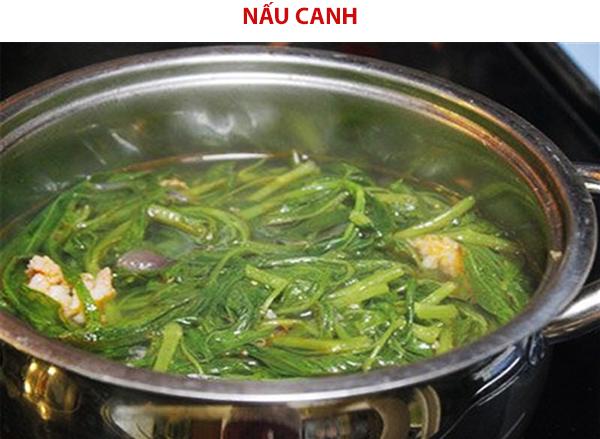Cách nấu canh rau muống chua