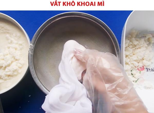 Vắt khô khoai mì