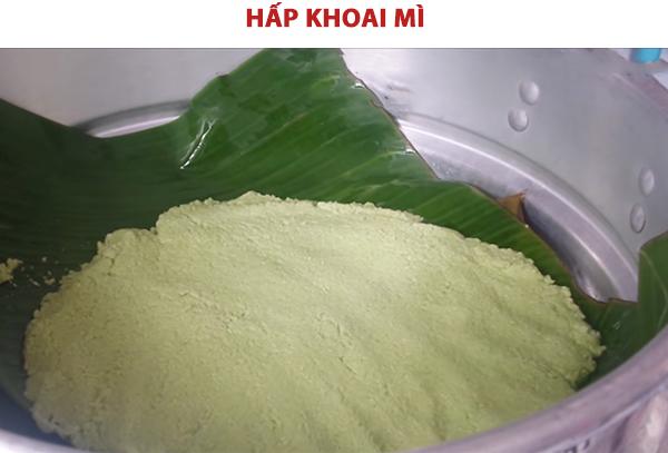 Cách làm khoai mì hấp nước cốt dừa muối mè