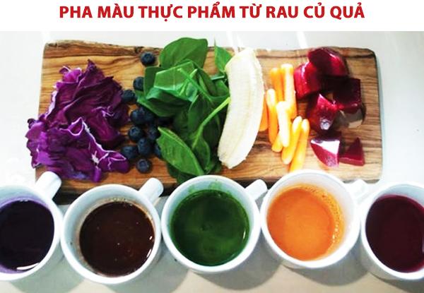 Cách pha màu thực phẩm từ rau củ quả