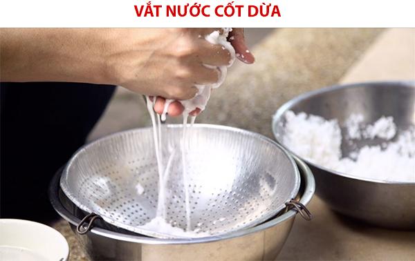 Vắt nước cốt dừa