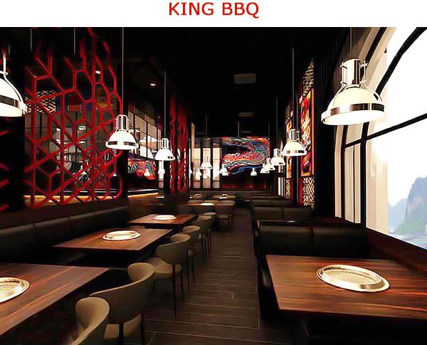 Không gian quán nướng Hàn Quốc King BBQ Buffet