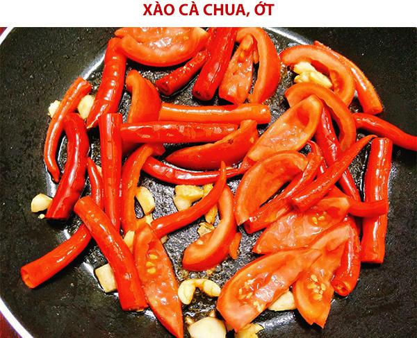 Xào cà chua, ớt