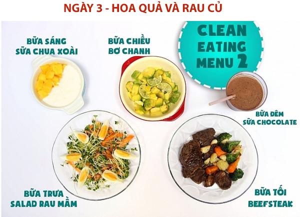 eat clean ngày 3
