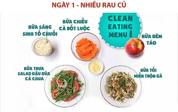 eat clean ngày 1