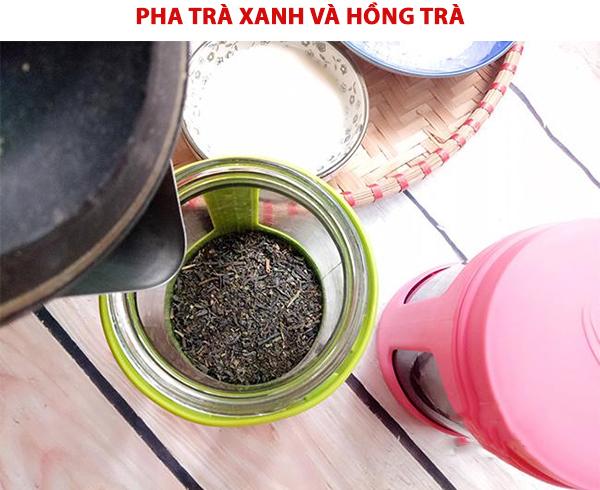 Pha trà và hồng trà