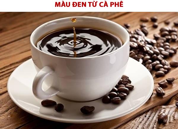 Pha màu thực phẩm có màu đen hoặc nâutừ cà phê