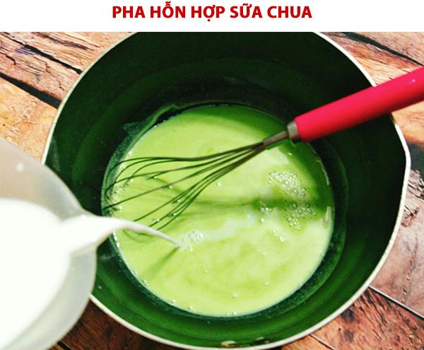 Cách pha hỗn hợp sữa chua