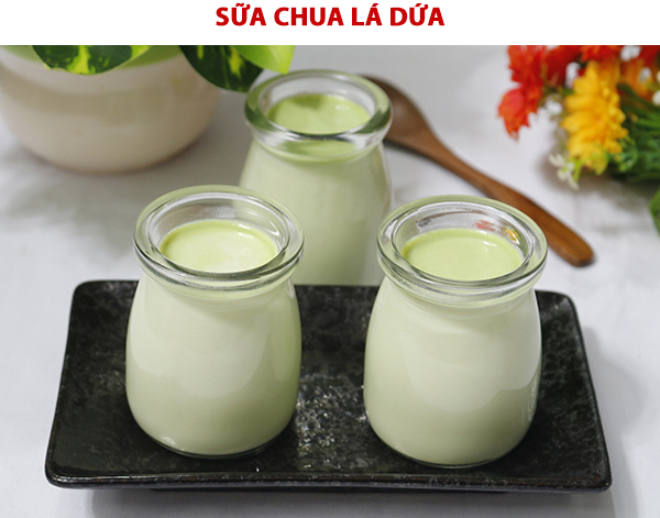 Cách làm sữa chua lá dứa tai nhà