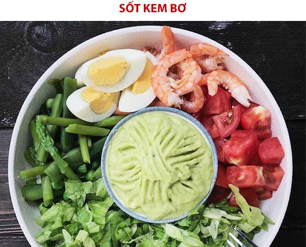 Cách làm sốt kem bơ trộn salad