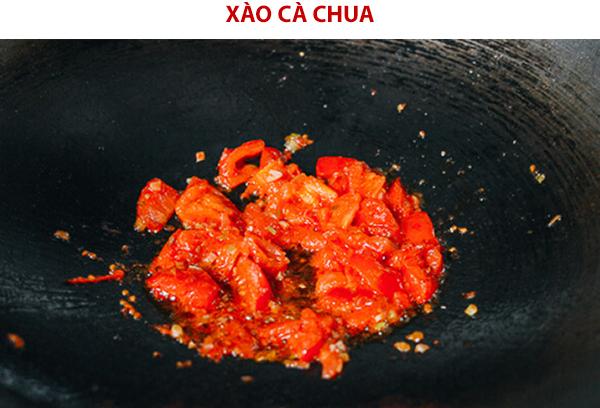 Xào mềm cà chua