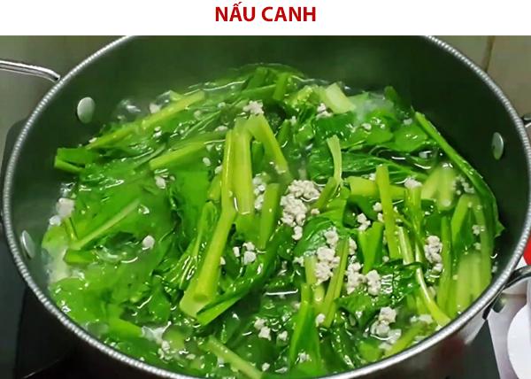 Cách nấu canh cải ngọt