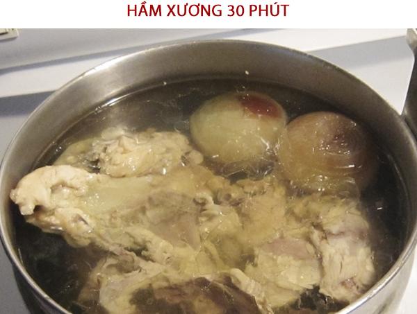 Cách nấu nước dùng hầm xương heo