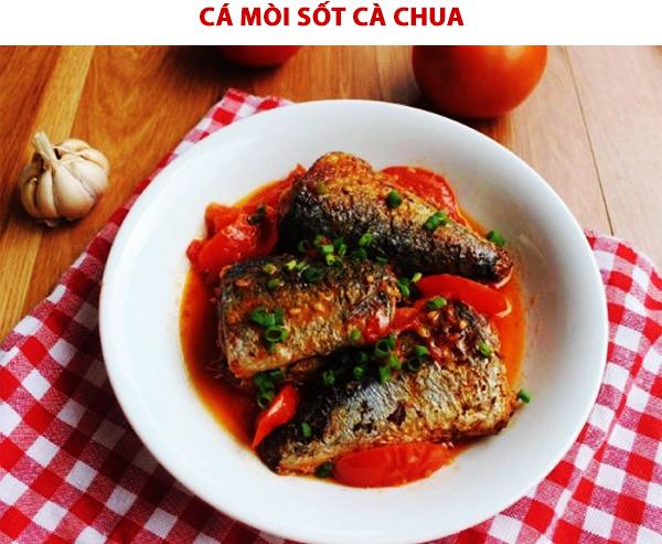 Cách làm cá mòi sốt cà chua
