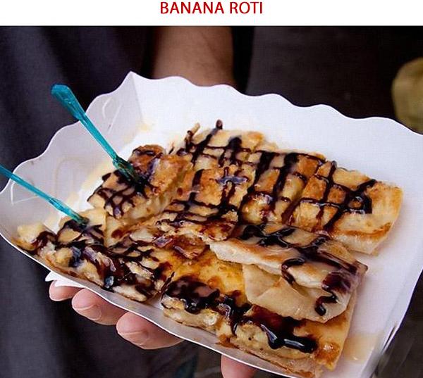 Banana Roti - Ẩm thực đường phố Thái Lan