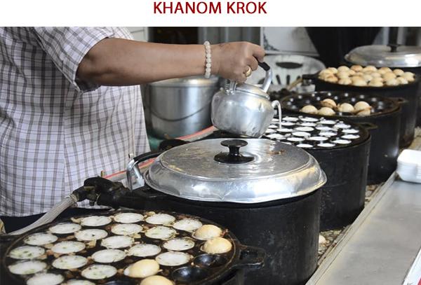 Khanom Krok - Ẩm thực đường phố Thái Lan