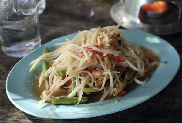 Som tam - Ẩm thực đường phố Thái Lan