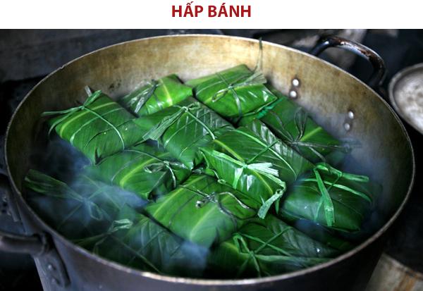 Hấp chín bánh phu thê Bắc Ninh