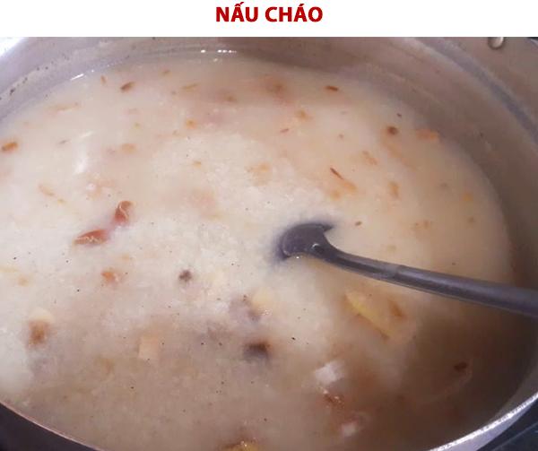 Cách nấu cháo cá lóc nấm rơm