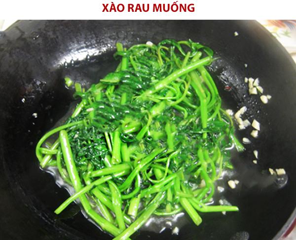 Cách làm rau muống xào tỏi