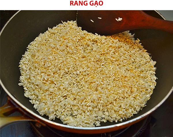 Rang gạo làm thính