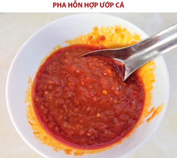 Cách pha hỗn hợp ướp cá nướng muối ớt