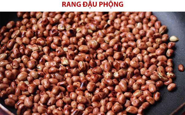 Rang vàng giòn đậu phộng