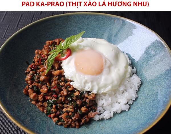 Cách làm Pad Ka-Prao (thịt xào lá hương nhu)