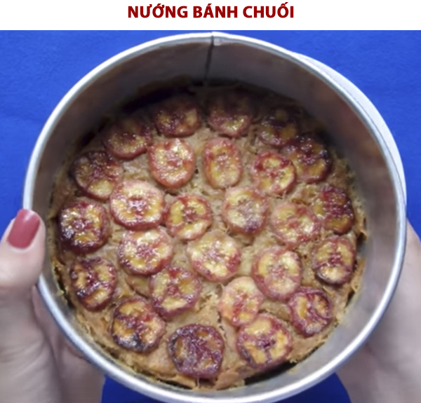 Cách làm bánh chuối nướng nước cốt dừa