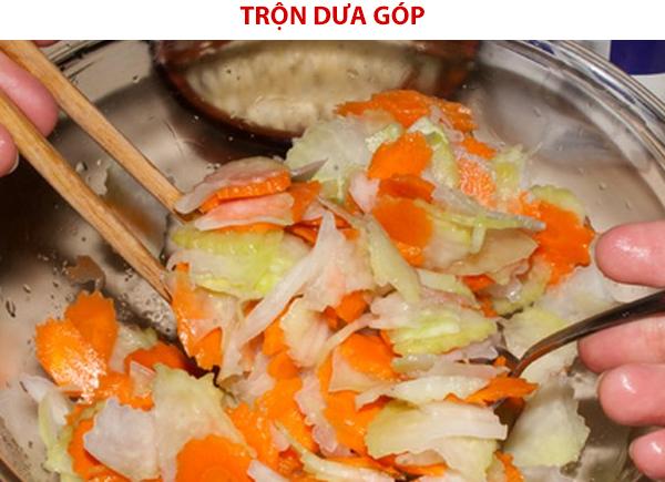 Cách làm dưa góp su hào cà rốt