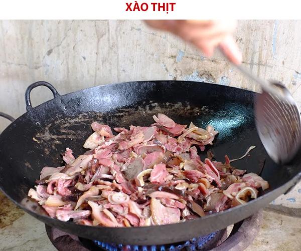 Xào thịt
