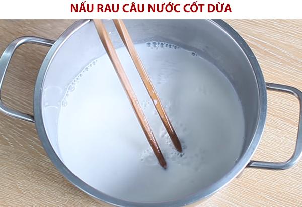 Cách nấu rau câu nước cốt dừa