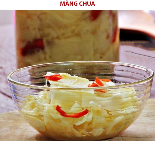 Cách làm măng chua bằng nước vi gạo, muối, giấm