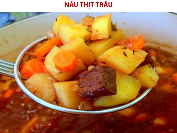 Cách nấu thịt trâu sốt vang