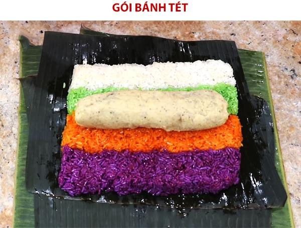 Cách gói bánh tét