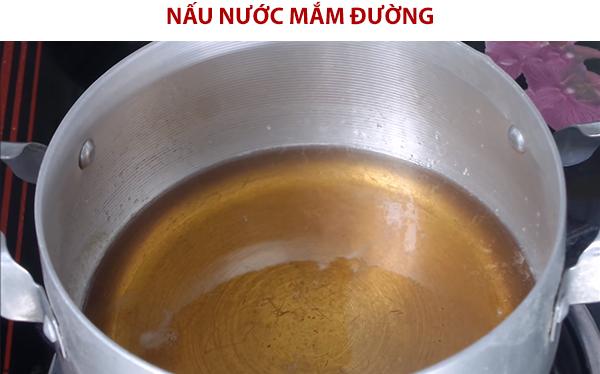 Cách nấu hỗn hợp nước mắm đường