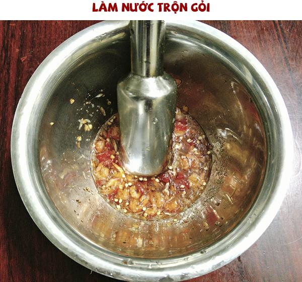 Cách làm nước trộn gỏi đu đủ Thái Lan
